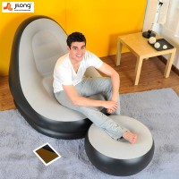 New JILONG Portable Air Flocking Fast Inflatable Lazy Sofa