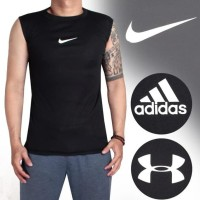 HOT SALE LEKBONG Baselayer Singlet Manset , Baju Fitnes Gym NIKE