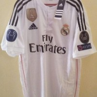 HOT SALE Jersey Real Madrid Home 2014/2015 UCL - Putih, S Terjamin