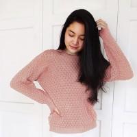 Terlaris Premium RoundHand Popcorn Sweater 2 | Baju Nanas Rajut