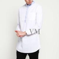 VM Gamis Baju koko Muslim Putih Panjang