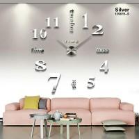 SILVER Jam Dinding Raksasa DIY 80-130cm Diameter