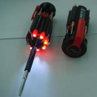 Obeng 8 in 1 portable multi screwdriver with LED torch OBS001TD