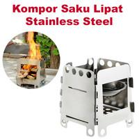 Camping Kompor Saku Stainless Steel Lipat ODR004ZH