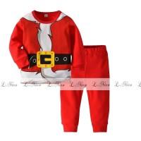 Baju Tidur Anak Laki-Laki SANTA COSTUME PJMS274-095