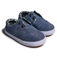 FirstLight.id K03 denim blue sepatu anak balita gratis kaos kaki