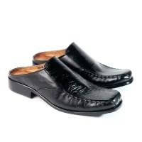 sepatu pantofel slop asli kulit ( tipe : 663 )