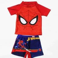 stelan baju Renang anak spiderman import atasan celana