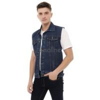 Emoline - Jaket Rompi Jeans Pria Premium - Original Rompi Jeans