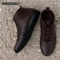 grosir sepatu casual pria kickers mbx dark brown - Hitam, 39