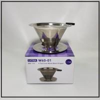 Alat Kopi Latina W60.01 Metal Dripper - V60 Flat Cone REW-1113
