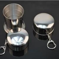 Telescopic Cup Travel Lipat Cangkir Air Drinkware 150 Ml AP-33B Perak