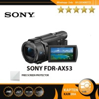 Sony FDR-AX53 4K Ultra HD Handycam Camcorder (free screen protector)