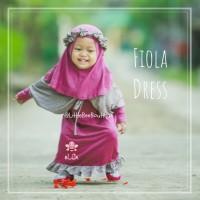eLBi Fiola Dress - Baju Muslim Balita - Gamis dengan Bandana 5-6thn
