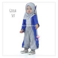 eLBi Gisela Set - Gamis Tunik Anak Perempuan - Baju Muslim Balita5-6th