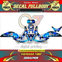 DECAL STICKER STRIPING MOTOR YAMAHA FINO DORAEMON