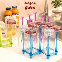 Rak Tempat Tirisan Gantungan Gelas Botol Cangkir Cup Kitchen Rack Bisa