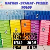 Alas Lantai Puzzle Evamat Matras Tikar Karpet 30x30x0.5 cm Polos