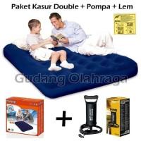 Paket Kasur Angin Double Bestway 67002 Pompa Tabung 12