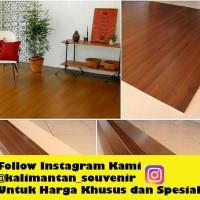 Tikar Kayu Karpet Plywood Coklat Tua 120x200