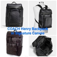 Coach men's Henry Backpack in Signature Canvas