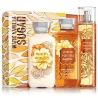 BATH & BODY WORKS WARM VANILLA SUGAR GIFT SET WITH BOX