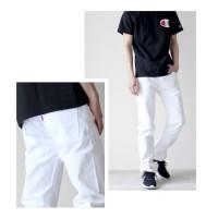 Jeans Putih Regular Ukuran 28 sampai 38
