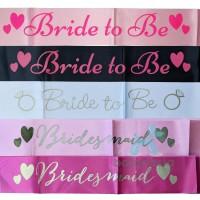 Selempang Bridal Shower Bride To Be / Sash Bride To Be
