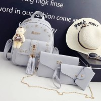 Backpack fashion 4 in 1 rumbai terbaru