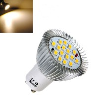 Top Brand 8X GU10 6.4W 16 SMD 5630 LED Warm White Spot Bulb