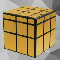Rubik Mirror 3x3 Gold Black Base Qiyi Magic Cube