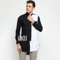 VM Gamis Jumbo Baju Koko Muslim Panjang Hitam Putih