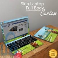 Garskin Full Body Skin Laptop Custom / Desain Sendiri / bebas