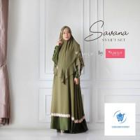 AMILY HIJAB SAVANA SYARI SET DRESS GAMIS KHIMAR BUSANA MUSLIM