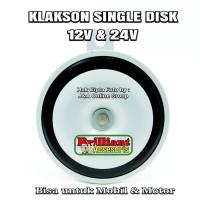 Klakson Single Disk Silver - 12v - Cocok untuk Mobil & Motor