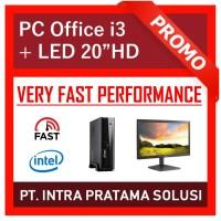 """PC Rakitan Core i3 Lengkap (Siap Pakai, untuk Office / Admin) - 20"""""""