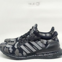 Sepatu Sneakers Adidas Ultra Boost Bape Camo Black 100% Original