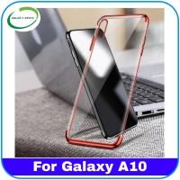Casing Samsung Galaxy A10 A 10 Plating Case List Chrome Slim Kesing Hp