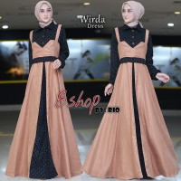 WIRDA Dress by B Shop Bahan Oxport Mix Baby Kadoray Premium Ori Brand