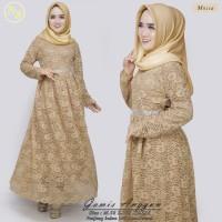 Kebaya Modern Gamis Full Furing mocca 5 Pilihan Warna