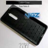 JUAL Case Xiaomi Nokia 8 Carbon Fiber Slim Delkin Original