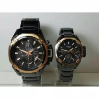 JAM TANGAN COUPLE ALEXANDER CHRISTIE AC 6225 BLACK ROSE GOLD