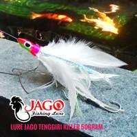 Lure Jig Head Metal Jig bulu ayam JAGO Tenggiri Killer 50gram
