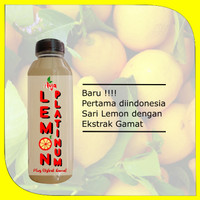 58K ( 1 Botol ) Lemon Platinun Plus Ekstra Gamat 100% Original Fresh