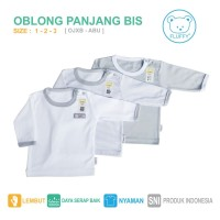 KAOS OBLONG BAYI / ANAK FLUFFY ABU(ISI 3PC) SIZE 1 2 3 TH
