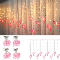 Top Brand AC220V 3.5M 96 LED Flamingo String Curtain Light Fairy Lamp