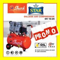 Compressor angin silent oilless SHARK 1 pk hp swan fresco 130 lakoni