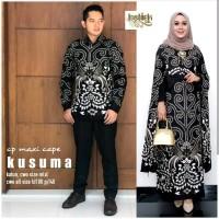 couple batik gamis katun maxi cape kusuma baju couple batik batik