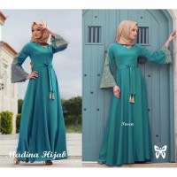 Baju Gamis Wanita Muslimah Madina maxi Dress Gamis Syari Murah Terbaru