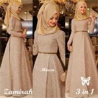 Baju Maxi Dress Gamis Wanita Zamirah Khosibo Muslim Murah Terbaru